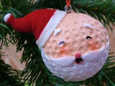 christmas crafts with golf balls | New Santa Claus Golf Ball Hat Christmas Tree ... | pinestraw crafts