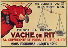 La Vache Qui Rit Vintage cheese poster (Laughing Cow)