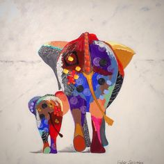 68 New Ideas painting elephant acrylic abstract Elephant Art, Whimsical Art, Animal Paintings, Elephant Paintings, African Art, Painting Inspiration, Canvas Art, Canvas Size, Acrylic Canvas