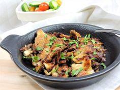 Grilovaná hlíva ústřičná Japchae, Stuffed Mushrooms, Ethnic Recipes, Food, Stuff Mushrooms, Essen, Meals, Yemek, Eten