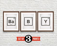 Periodic Table Baby Posters on Etsy