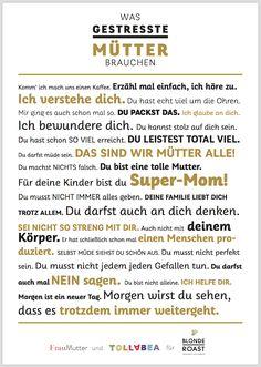 Was gestresste Mütter brauchen: Kaffee und ganz bestimmte Sätze! Werbung für Tchibo Blonde Roast