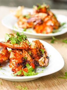 Spicy Paprika Lime Garlic Shrimp makes for the perfect appetizer or dinner. The shrimp cooks in minutes and has the most flavorful, perfect marinade. Gluten Free and Dairy Free.
