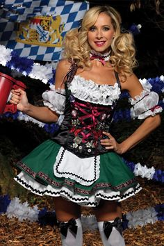 Deluxe German Beer Girl Costume  sc 1 st  Pinterest & 2017 Walson Ladies Oktoberfest Costume German Beer Maid Woman ...