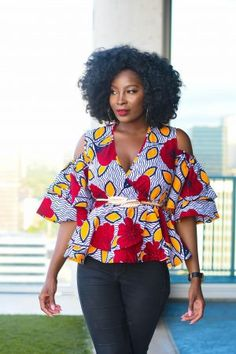 Collection of the most beautiful and stylish ankara peplum tops of 2018 every lady must have. See these latest stylish ankara peplum tops that'll make you stun African Fashion Ankara, African Print Dresses, African Print Fashion, African Dress, African Prints, African Fabric, African Blouses, African Tops, Ankara Long Gown Styles