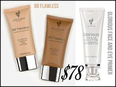 BB Flawless and Glorious Face & Eye Primer by Younique.  Must Haves!!! www.youniqueproducts.com/PamKey