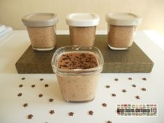 Petits pots de crème au chocolat au lait Nutella, Tiramisu, Pudding, Cooking, Breakfast, Food, Sorbets, Recipes, Milk