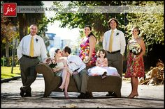 Fun pose idea for a wedding...maybe for the family pics instead of those boring lined up pictures?