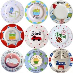 Handpainted personalized plates
