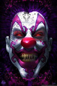 Keep Smiling Scary Clown Horror Tom Wood Fantasy Art Poster Joker Iphone Wallpaper, Joker Hd Wallpaper, Joker Wallpapers, Skull Wallpaper, Gruseliger Clown, Es Der Clown, Clown Faces, Creepy Clown, Dark Fantasy Art