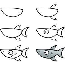 how to draw a shark !