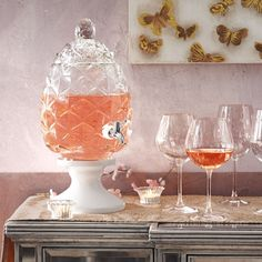 Pier 1 Pineapple Drink dispenser $79.99. (actually ANY drink dispenser 1 gallon to 1.5 maximum). :)