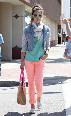 Jessica Alba #style #color