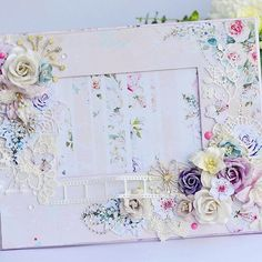 Шикарная цветочная рамка коллекция бумаги #цветочнаясимфония от нашей чудесной…