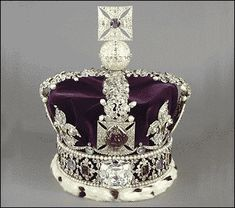 The Imperial State Crown, worn by Queen Elizabeth II as she departed Westminster Abbey after her coronation in 1953.