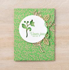 Use the positive and negative cut out shapes from the Flourishing Phrases bundle! #stampinup