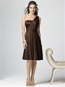 Dessy Collection  Style 2862 #brown #bridesmaid #dress