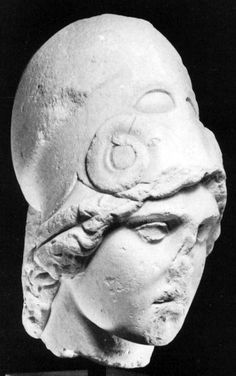 Head of Athena found Attalos - from circa 400 BCE, now national argeolojilical museum, Athens