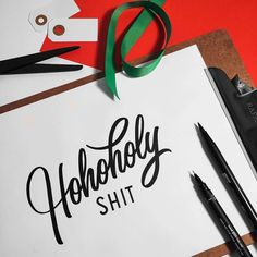 ho ho holy shit it's nearly Christmas. Type by @jonathanfaust - #typegang - typegang.com | typegang.com #typegang #typography