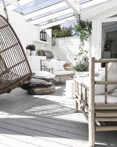 __ my patio ___ longing for summer__ __________________________________________________ Indoor Outdoor Living, Outdoor Areas, Outdoor Rooms, Outdoor Decor, Home Garden Design, Diy Garden Decor, Home And Garden, Porch And Terrace, Patio Roof