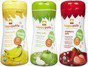 Happy Baby Puffs - Apple, Banana & Strawberry $10