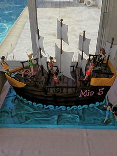 Mia's Pirate Fairy Party~Pirate Ship Cake made by BeautifullyDeliciousbyDanielle