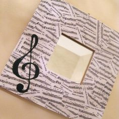 There is SO MUCH you can do with sheet music. I might try and make this