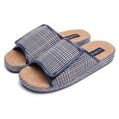 7195105726e76 Buy BUYITNOW Mens Extra Extra Wide Slippers with Adjustable Closures
