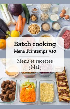 Batch cooking Printemps Menus, recipes and race list for the week of May 27 to 2019 Inexpensive Meals, Cheap Meals, Quick Easy Meals, Night Dinner Recipes, Healthy Dinner Recipes, Healthy Cooking, Healthy Meals, Cooking Recipes, Cooking On A Budget