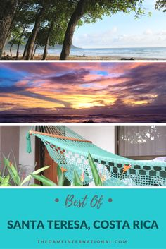 A comprehensive guide on where to stay and eat and what to do when you travel to Santa Teresa, Costa Rica.