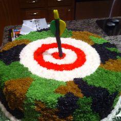 Hunters bullseye chocolate cake
