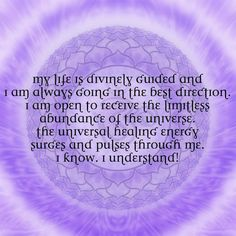 I am open to receive the limitless abundance of the universe.