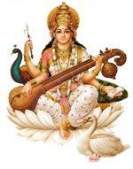 Goddess Sarasvati playing on Sarasvati-Veena -- an ancient Indian musical instrument ..