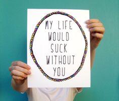 funny art typography print