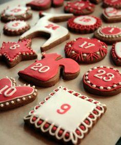Gingerbread Advent Calendar. Beautiful + delicious!