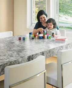 180fx® Laminate is a luxury laminate for real life. It looks like a real slab of stone, granite, wood or quartz - at a fraction of the cost, is durable and easily cleaned.  9304-43 Blue Flower Granite is a swirling pattern of quartz crystals with earth-toned lines for clarity and depth. Real stone will cost about $65-$70 a sq ft before installation.   Click through to order your free sample of 9304-43 Blue Flower Granite