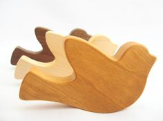 wood RATTLE teether toy - peace dove - organic wooden baby toys, non toxic safe montessori teething, sensory awareness
