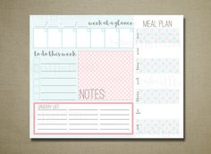Command Center Home Weekly Organization Printable by ShesMyTuesday