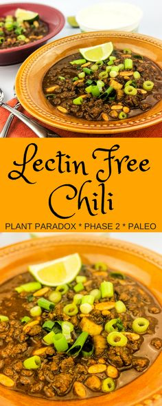 Plant Paradox Phase 2 compliant chili with no nightshades and no legumes. The best ever lectin-free chili that does not sacrifice taste, texture, or rich flavor.