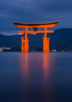 the floating torii of miyajima, Japan