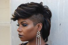 Image may contain: 1 person, closeup Short Sassy Hair, Short Hair Cuts, Short Hair Styles, Pixie Styles, Pixie Cuts, Short Pixie, Mohawk Hairstyles, Pretty Hairstyles, Shaved Hairstyles