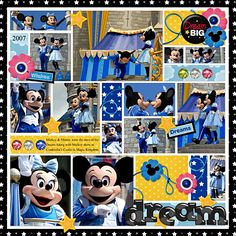 Template Challenge 91: Dream - MouseScrappers - Disney Scrapbooking Gallery