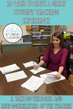 Being a student teacher is both exciting and scary. Here are 10 ways to ensure your student teaching experience is a great one!  #vestals21stcenturyclassroom #studentteacher #studentteaching #studentteachingtips #firstdayofstudentteaching #studentteachingessentials #studentteachingideas #preparingforstudentteaching #studentteachingadvice