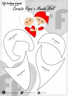 Molde Enfeite de Natal em Feltro Felt Christmas, Christmas Crafts, Xmas, Bear Crafts, Christmas Templates, Felt Ornaments, Quilt Patterns, Screen Printing, Daisy