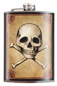 Skull & Bones - Stainless Steel Flask - 8oz.