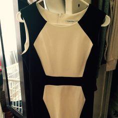 Cute black and white dress Back zipper size 8 Dresses