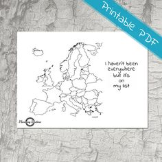 Europe Planner Stickers, Map of Europe, Europe Planner Printable, Travel Stickers