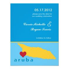 Shop Aruba Wedding Save the Date Announcement created by marlenedesigner. Personalize it with photos & text or purchase as is! Beach Theme Wedding Invitations, Save The Date Invitations, Save The Date Cards, Wedding Stationery, Spaghetti Strap Wedding Dress, Spaghetti Straps, Aruba Weddings, Our Wedding, Destination Wedding