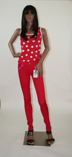 This polka dot top is also from the t-shirt, tops & red jeans collection, this lil beauty is fitted but not to tight and can be worn with shorts, skirt , trousers, again can be worn as a casual piece or to a party or club