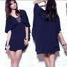 For Love and Lemons Wicca Dress in Navy The For Love and Lemons Wicca Dress in Navy is a striking, effortless piece. This dress is constructed from a rayon blend material, with a caped bodice and back. The navy mesh cutout at the neckline adds a hint of sex appeal. Item fits true to designer letter sizing, over-sized throughout. MAKE AN OFFER <3 DISCOUNTS ON BUNDLES. NO TRADES For Love and Lemons Dresses Mini
